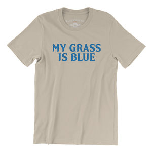 My Grass Is Blue Cream Lightweight Vintage Style T-Shirt (Large)
