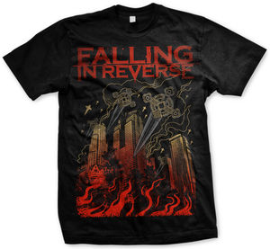 Cities T-Shirt Black -XL