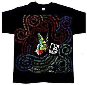 Butterfly Swirl Slim Fit T-Shirt Black - XL