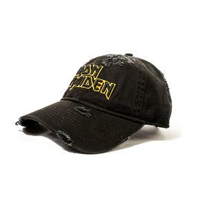 Iron Maiden Logo Distressed Snapback Baseball Cap