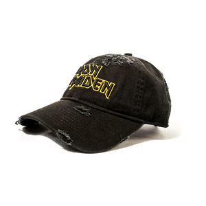 Iron Maiden Logo Distressed Snapback Baseball Cap