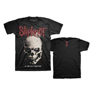Slipknot Skull & Tribal The Gray Chapter (Mens /  Unisex Adult T-shirt) Black US [Small] Front & Back Print