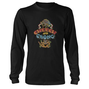 Cheech & Chong First Album Cover Art Black Long Sleeve T-Shirt (Large)