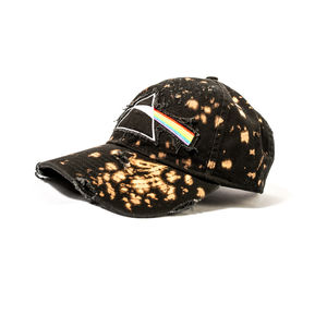 Pink Floyd Dark Side Of The Moon Pyramid Prism Logo Distressed Snapback Baseball Cap