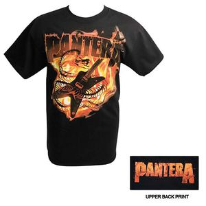 Pantera Guitar Snake (Mens /  Unisex Adult T-Shirt) Black, SS [Small] Front & Back Print