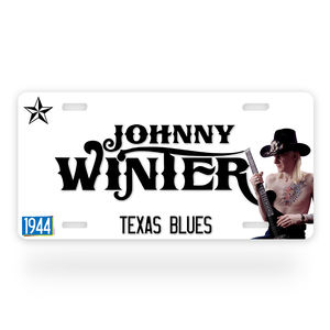 Johnny Winter Texas Blues License Plate