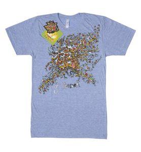 Skeletal Lamping David Barnes T-Shirt Blue - M