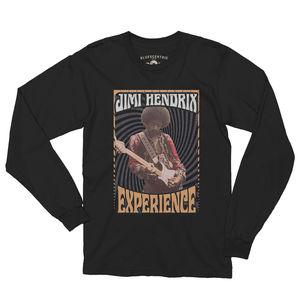 Jimi Hendrix Experience 1968 Black Long Sleeve T-Shirt (Medium)