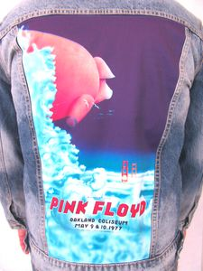 Pink Floyd Oakland Coliseum '77 Pig In The Sky Blue Jean Jacket (Men'sXL)