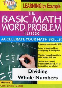Basic Math Word Problms: Dividing Whole Numbers