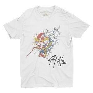 Johnny Winter Screamin Demon Tattoo White Lightweight Vintage StyleT-Shirt (XXL)