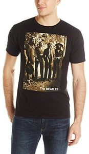 The Beatles Sepia 1969 Last Photo Session (Mens /  Unisex Adult T-shirt) Black, SS [XXL] Front Print Only