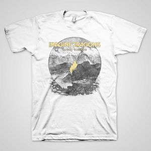 Imagine Dragons Night Visions Flame (Mens /  Unisex Adult T-Shirt) White, SS [XL] Front Print Only