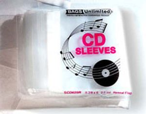 Bags Unlimited SCD425R Poly Resealable CD/ Booklet bag-100ct