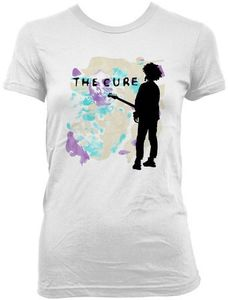 The Cure Boys Don't Cry (Ladies /  Junior Adult T-shirt) White, SS [Small] Front Print Only