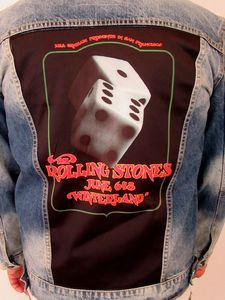 The Rolling Stones at Winterland Lucky Dice Blue Jean Jacket (Men's XL)