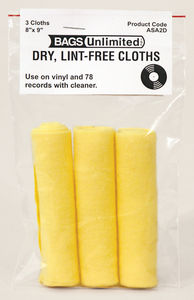 Bags Unlimited Asa-2D Record Cleaning Cloth-3Pk