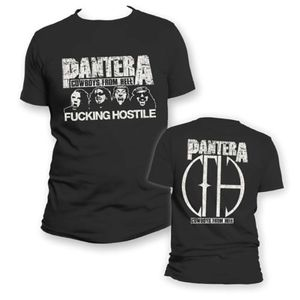 Pantera F***ing Hostile Cowboys From Hell (Mens /  Unisex Adult T-Shirt) Black, SS [Small] Front & Back Print