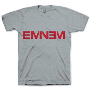 Eminem Logo (Mens /  Unisex Adult T-Shirt) Grey, SS [Small] Front Print Only