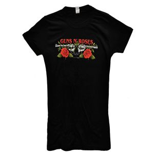 Guns N' Roses Roses & Pistols (Mens /  Unisex Adult T-shirt) Black, US [Small], Front Print Only