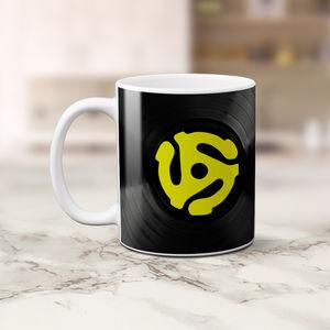 45 Record Adapter 11 Oz Coffee Mug