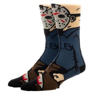 Friday The 13th Jason 360 Character Crew Socks Men's 10-13