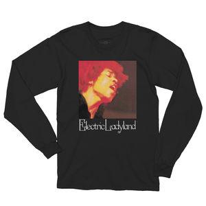 Jimi Hendrix Electric Ladyland Black Long Sleeve T-Shirt (Medium)