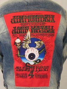 Jimi Hendrix, John Mayall, Albert King Flying Eyeball Blue Jean Jacket(Men's XXL)