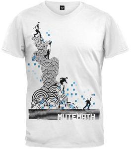 Digital Steps V-Neck T-Shirt White - S