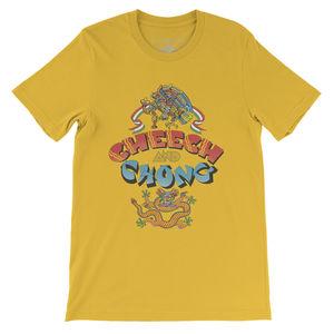 Cheech & Chong First Album Cover Art Yellow Lightweight Vintage StyleT-Shirt (XXXL)