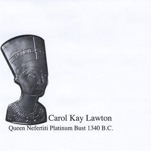 Queen Nefertiti Platinum Bust 1340 B.C.