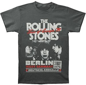 The Rolling Stones Tour Of Europe '76 Berlin West Germany (Mens /  Unisex Adult T-shirt) Black, SS [Small] Front Print Only