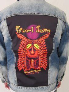 Pearl Jam Tiki Torch Blue Jean Jacket (Men's XXL)