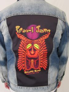 Pearl Jam Tiki Torch Blue Jean Jacket (Men's XXL)