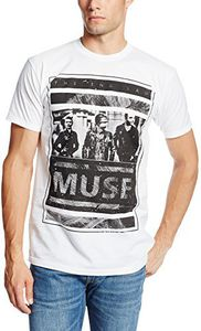 Muse Photo Block The 2nd Law (Mens /  Unisex Adult T-shirt) White, SS [XL] Front Print Only