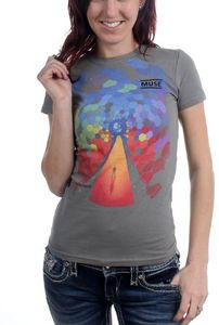 Muse Bleached Cover (Mens /  Unisex Adult T-Shirt) Grey, SS [Medium] Front Print Only