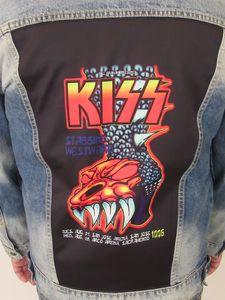 Kiss '96 Gargoyle Blue Jean Jacket (Men's XL)