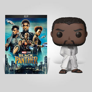 Black Panther White Robe Dvd Bundle