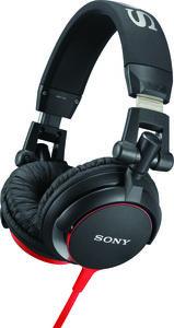 SONY-MDRV55BR BLACK/ RED SONY OVER-EAR HEADPHONES