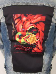 Guns N Roses & Metallica Serpent Scream Blue Jean Jacket (Men's XL)