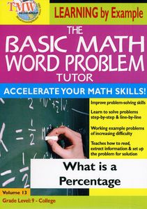 Basic Math Word Problms: What Is a Percentage?