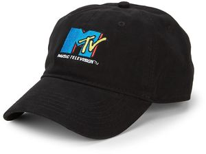 MTV Core Logo Black Adjustable Baseball Cap