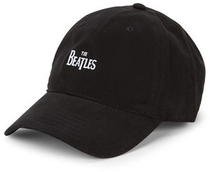 Beatles Logo Black Adjustable Baseball Cap