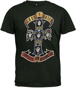Guns N' Roses Appetite for Destruction Cross (Mens /  Unisex Adult T-Shirt) Black, SS [XXL] Front Print Only