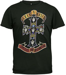 Guns N' Roses Appetite for Destruction Cross (Mens /  Unisex Adult T-Shirt) Black, SS [XXL] Front Print Only