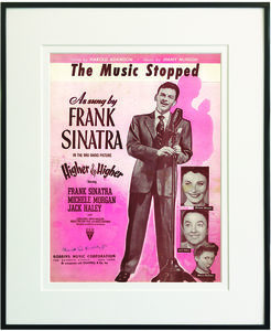 The Music Stopped Framed Sheet Music