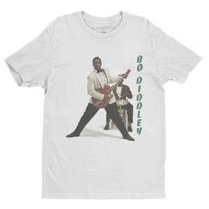 Bo Diddley 1958 White Lightweight Vintage Style T-Shirt (Medium)