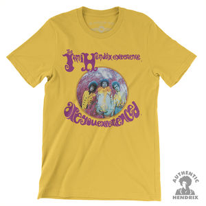 Jimi Hendrix Experience Are You Experienced Yellow Lightweight VintageStyle T-Shirt (XL)