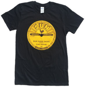 Carl Perkins Blue Suede Shoes Black Unisex Adult Short Sleeve TeeShirt (2XL)
