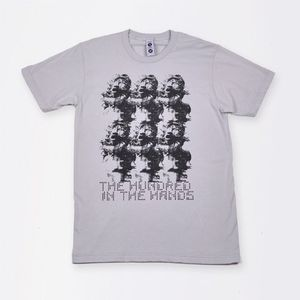 2010 Collection Crew Neck T-Shirt New Silver - XS